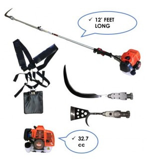 2 Stoke Petrol Garden tools Oil Palm Tree Pruner Pole Saw