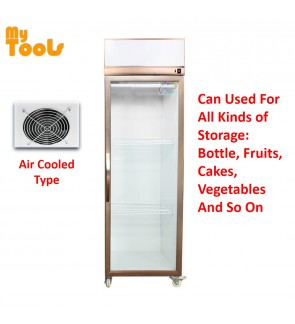 Mytools Himitzu 400L 1 Glass Door Commercial Display Showcase Fridge Chiller Refrigerator Air Cooled (Blower Type)