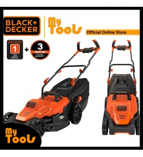 BLACK + DECKER BEMW471BH Lawn Mower with Bike Handle 1600W 240V 38cm 12Meter Cable ( Mesin Rumput )