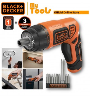 "Black + Decker PLR3602-XD 3.6V Cordless 1/4"" Twist Screwdriver With 10pcs Bits ( PLR3602 )"