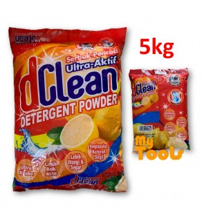 Mytools D Clean Washing Detergent Powder Laundry Serbuk Pencuci 5kg