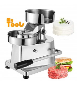 Mytools 130mm Hamburger Patty Press Maker Manual Burger Machine Stainless Steel Hand Meat Press
