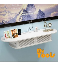Mytools WPC Wooden DVD Player Rack TV Rack Wall Mount 2 Tier Shelf Decoration Shelves Organizer