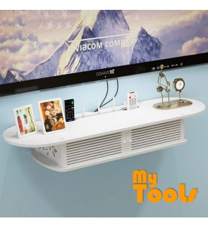 Mytools WPC Wooden DVD Player Rack TV Rack Wall Mount 2 Tier Shelf Decoration Shelves Organizer