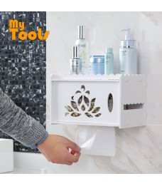 Mytools Bathroom Tissue Box Holder Hanger Rack Storage Organizer Wall Mounted Toilet Shelves