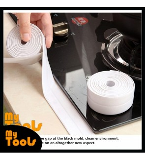 Mytools 3.8cm x 320 cm Kitchen Waterproof Self Adhesive Tape Bumper Strip Corner Protector Anti mold sticker Sealing