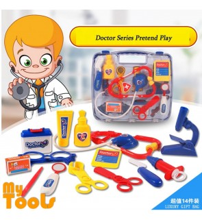 Mytools 14pcs Doctor Pretend Play Role Set Children House Toys Nurse Medical Kit Toy Simulation Medicine