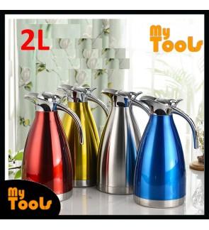 Mytools 2L Stainless Steel Vacuum Thermal Jug Kettle Pot 304 Thermos Vacuum Tea Coffee Drink Dispenser Flask