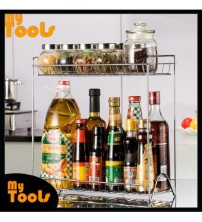 Mytools 2 Tier Spice Rack Storage Organizer Seasoning Jars Bottle Stand Holder Kitchen Shelves