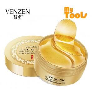 Venzen 24K Gold Collagen Eye Mask for Eyebag Puffiness Dark Circles Fine Lines Wrinkles Crows Feet 60 pcs