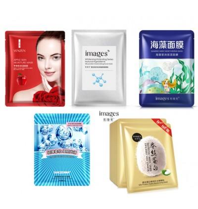 10pcs Random BIOAQUA IMAGES ROREC Beauty Moisturizing Facial Mask