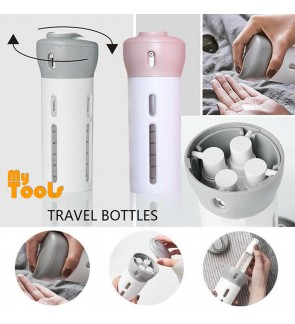 Mytools 4 in 1 Portable Travel Cosmetic Bottle Dispenser Plastic Refillable Leak Proof Containers