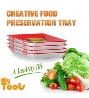 Mytools Healthy Creative Food Preservation Tray Kitchen Tools Storage Container Set Kitchen Dining Trays Food Seal Vacuum Storage with Lid