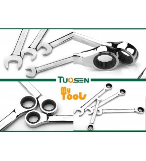 Mytools Premium TUOSEN 6-19mm Dual Use Stubby Ratchet Wrench Spanner Quick Plum Socket Repair Tool