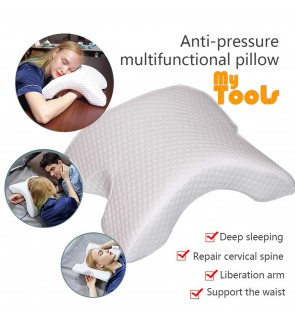 Mytools Couple Sleep Pillow Anti-Pressure Memory Cotton Curved Pillow Slow Rebound Pressure Pillow