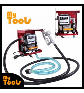 Mytools 240V Electric Diesel Oil Fuel Transfer Pump w/ 4 Digit Meter with Hose & Nozzle Kit