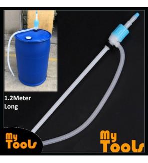 Mytools 1.2M Heavy Duty Manual Hand Siphon Pump Oil Pump Universal Portable Car Hose Gas Syphon Transfer Pump Plastic