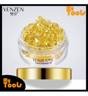 Venzen Bright Concentrated Sheep Placenta Eye Serum Capsule Anti-Aging Firming Dark Eye Circle Puffiness Line