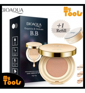 BIOAQUA BB Cushion Cream Exquisite & Delicate Base Makeup Cushion (15g+15g) water offered soleil cushion cream