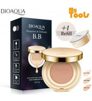 BIOAQUA BB Cushion Cream Exquisite & Delicate Base Makeup Cushion (15g+15g) water offered soleil cushion cream