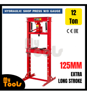 Mytools CE Certified 12 Ton Hydraulic Shop Press Heavy Duty High Capacity H-Frame Floor Press Type Jack Stand with Plate
