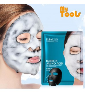 IMAGES Bubble Mask Amino Acid Bamboo Charcoal Deep Pore Facial Mask