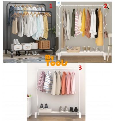 Mytools 110mm Anti Rust Garment Rack Clothes Metal with Hook Hanger Bottom Shelves Cloth Organizer Drying Rack