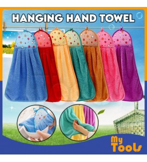 Mytools Hanging Hand Towel Cartoon Clean Cloth Kitchen Wipes Soft Anti-skid Pile Suede Warm