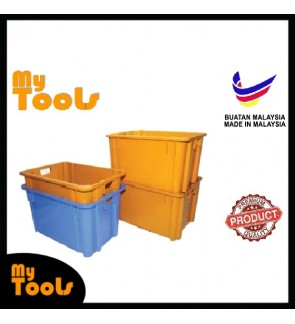 Mytools Multipurpose Rectangle Industrial Crate Bin Stackable Waterproof Food-Grade Heavy Duty for Agriculture, Construc