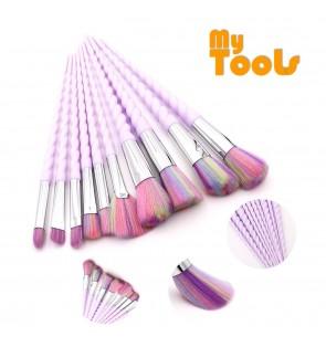 Mytools 10Pcs Korean Fashion Unicorn Design Makeup Brush Set Make Up Brushes Nylon Bristle