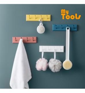 Mytools 4 Position Flip Hook Wall Mounted Clothes Hanger Door Coat Rack Hat Scarf Holder Hooks