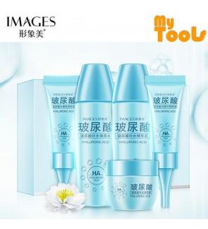 BIOAQUA IMAGES 5 Pcs Hyaluronic Acid Body Skin Care Set Moisturizer Eye Cream Essence Milk Moisture Cream BB Cream