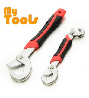 As Seen On TV 2PCS Adjustable Multifunctional Quick Snap N Grip Spanner Universal Wrench Set