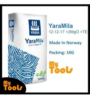 Yara YaraMila 12-12-17 +2MgO +TE 1KG Imported Flowering Fruiting Fertilizer Baja Berbunga (Made In Norway)