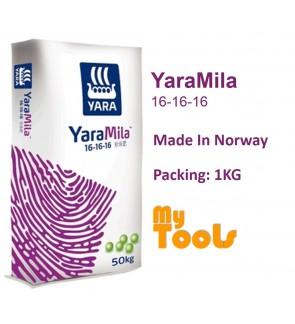 Yara YaraMila 16-16-16 1KG Imported Growing Fertilizer Baja Berdaun Import (Made In Norway)