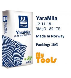 Yara YaraMila 12-11-18 +3MgO +8S +TE 1KG FruitingMaintain Fertilizer Baja BerbuahImport (Made In Norway)
