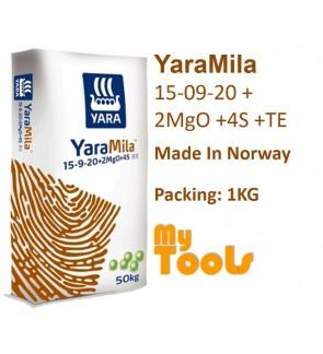 Yara YaraMila 15-09-20 +2MgO +4S +TE 1KG Flowering FruitingMaintain Fertilizer Baja Berbunga BerbuahImport (Made In Norway)