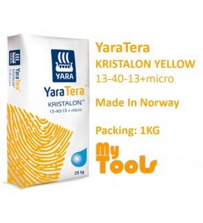 Yara YaraTera KRISTALON YELLOW 13-40-13 1KG Water Soluble NPK Fertilizer Foliar Baja Air Leburan (Made In Norway)