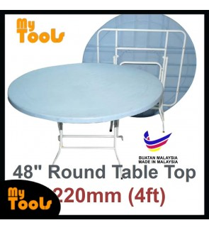 Mytools 4ft 4 Feet Round Foldable Plastic Table (Made In Malaysia) White