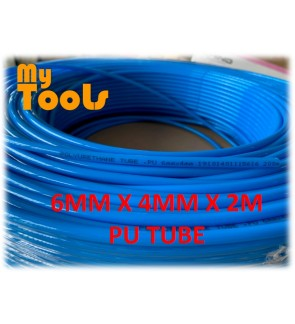 Mytools 2 Meter 6mm x 4mm Pneumatic Polyurethane PU Air Compressor Hose Tube Blue