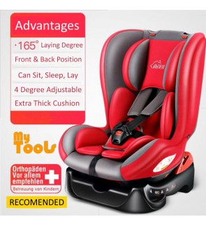 Mytools 360 Infant Baby Booster Car Seat Convertible Carseat 5 Point Safety Belt Fully Covered Cushion For New Born to 6 Years
