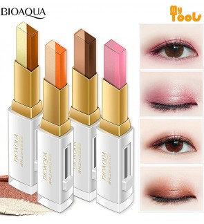 BIOAQUA Double Color Matte Lazy Eyeshadow Long Lasting Waterproof Eye Shadow