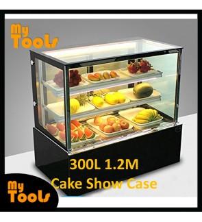 Mytools 300L 1200mm x 660mm x 1200mm Glass Cake Showcase Chiller Cube Shape Cake Display Refrigerator