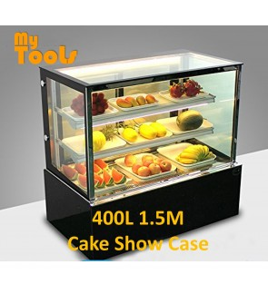 Mytools 400L 1500mm x 660mm x 1200mm Glass Cake Showcase Chiller Cube Shape Cake Display Refrigerator