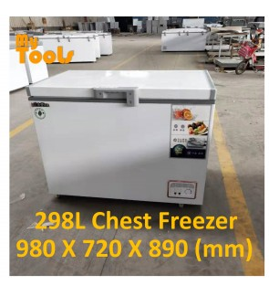 Mytools 298L Premium Chest Freezer With Lock 980 X 720 X 890 (mm) 5 YEARS Compressor warranty