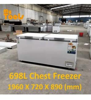 Mytools 698L Premium Chest Freezer With Lock 1960 X 720 X 890 (mm) 5 YEARS Compressor warranty