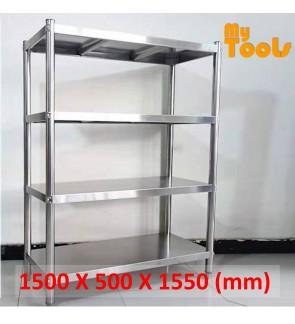 Mytools 4 Tier Stainless Steel Rack Kitchen Storage Shelf 1200L X 500W X 1550H (mm)