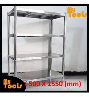 Mytools 4 Tier Stainless Steel Rack Kitchen Storage Shelf 1500L X 500W X 1550H (mm)