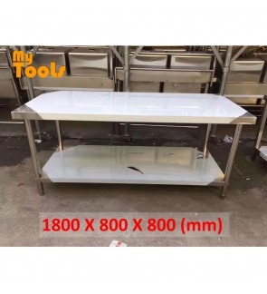 Mytools 1.8 Meter 6 Feet Stainless steel work table 1800 x 800 x 800mm