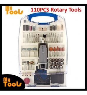 Mytools 110pcs 180W Mini Electric Grinder Drill Variable Speed Rotary Tool Kit US Plug 110-240V